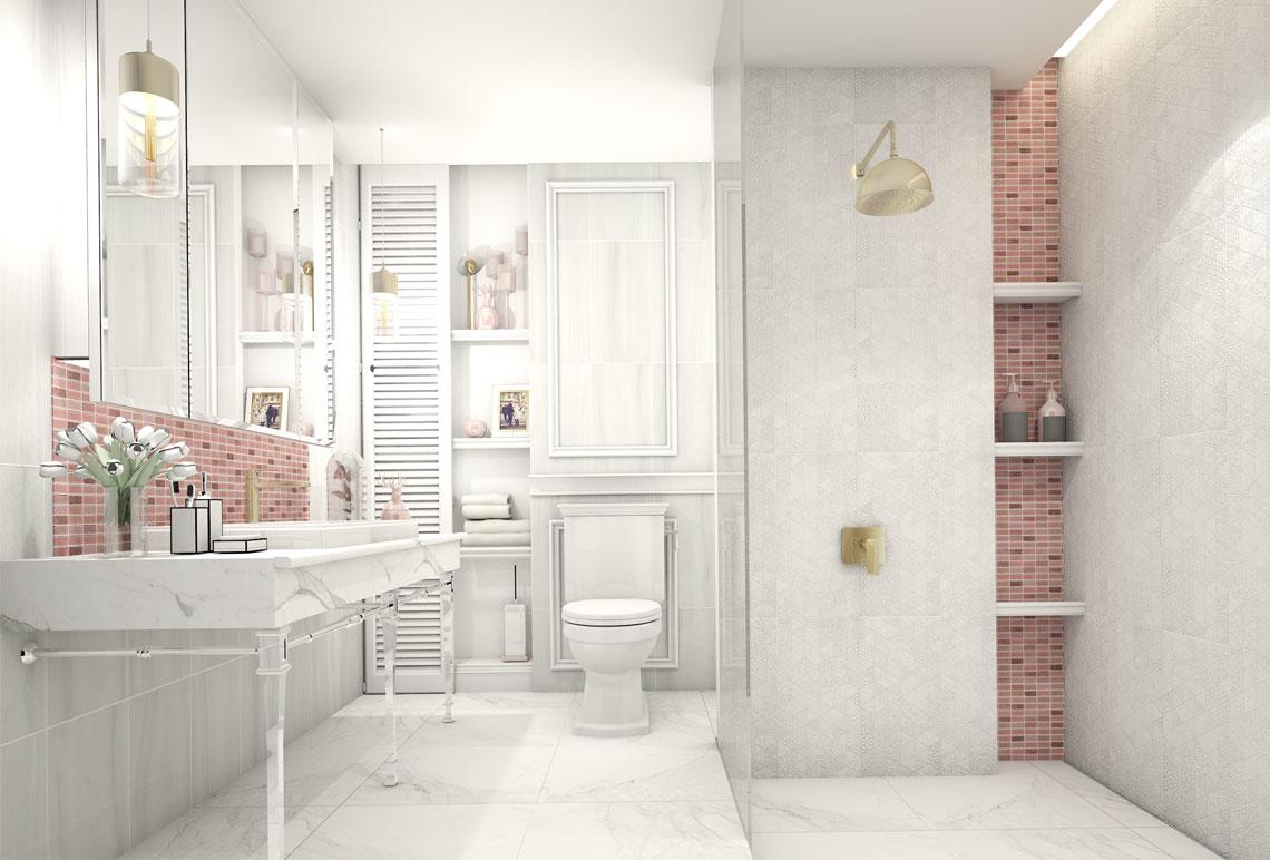 ห้องน้ำส่วนตัว,ห้องน้ำขนาดเล็ก,ห้องน้ําขนาดเล็กสวยๆ,ออกแบบห้องน้ำพื้นที่จำกัด,ห้องน้ำลายหินอ่อน