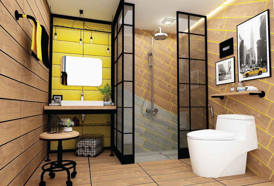 ห้องน้ำสไตล์Loft,ห้องน้ำเก๋,ห้องน้ำLoft,ห้องน้ำลายไม้